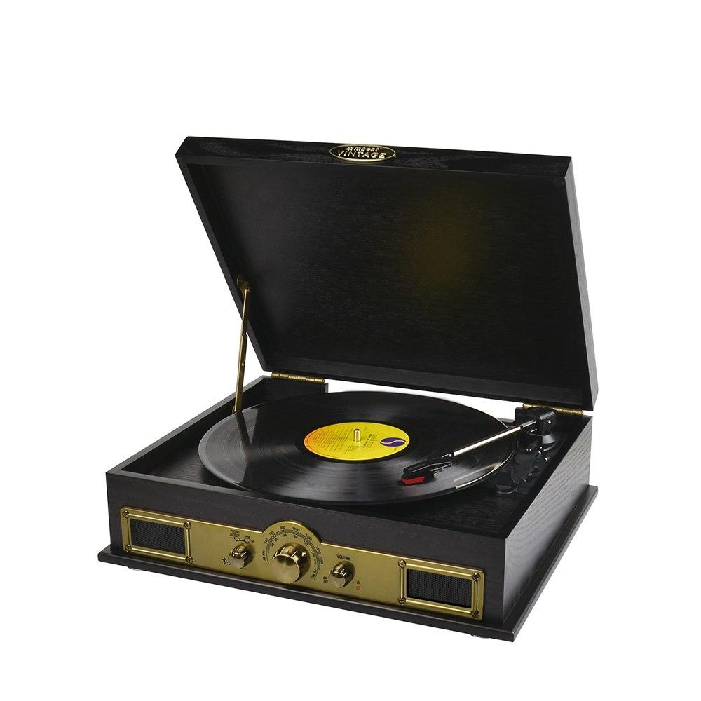 Mbeat® Vintage Usb Turntable With Bluetooth Speaker And Am/Fm Radio