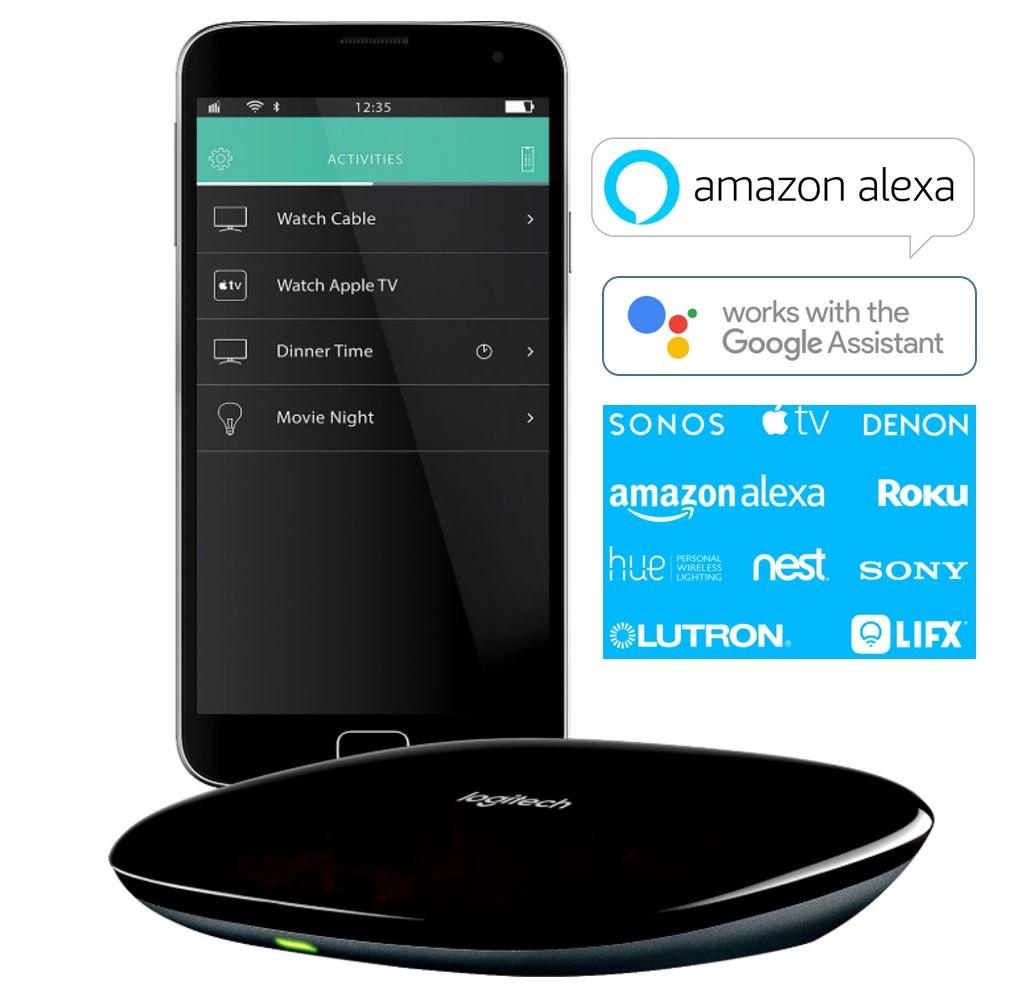 Logitech Harmony Smart Home Ir Hub Universal Remote Controller For SmartHome Via Ios Android Alexa Smartphone Tablet