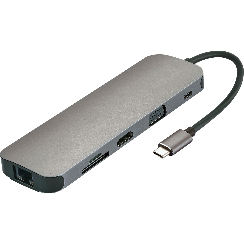 Klik Usb Type-C Multi-Port Adapter 4K Hdmi, Vga, Lan, 2 X Usb 3 0, SD,  Micro SD & Audio