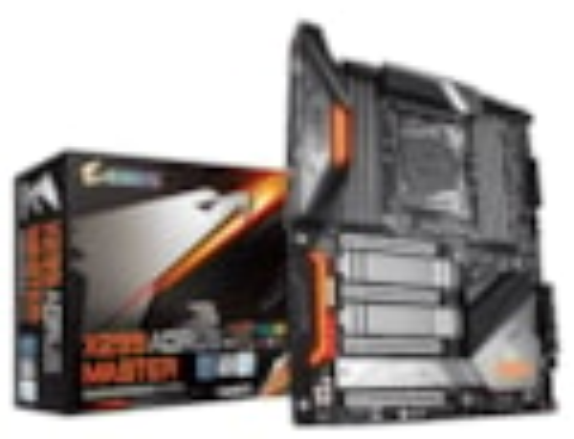 Gigabyte X299 Aorus Master Lga2066 12 Phases Digital VRM 8xDDR4 4xPCIe3.0 3xM.2 Raid Intel GbE Lan 8xthSATA Usb3.1 Type-C Thunderbolt Cf/Sli 2xwaRGB