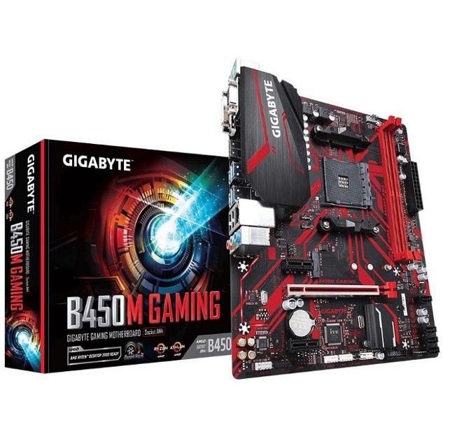 Gigabyte B450M Gaming MB, Am4, 2xDDR4, 4xSATA,1xM.2, USB3.1,MicroATX, 3YR