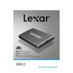 Lexar SL100 512GB TypeC Portable Slim SSD - 550/400 MB/s Sleek Design Durable DataVault Lite Software