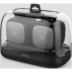 Edifier MP202 Duo 2.0 Bluetooth Portable Speaker - Black/Bt v4.2/MicroSD/USD/9 HRS Battery Life/12Hrs playtime/Rubber Exterior/Pair (LS)