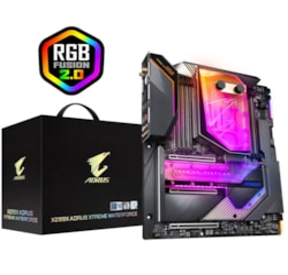 Gigabyte X299X Aorus Xtreme Waterforce Xl-Atx MB S2066 8xDDR4 4xPCIe 3.0 2xM.2 Raid 10GbE+1GbE Lan BT Crossfire Sli RGB 2xUSB-C 12xUSB3.2