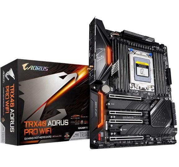 Gigabyte TRX40 Aorus Pro Wifi MB, STRX4, 8xDDR4, 8xSATA, 2xM.2, Usb-C, Atx, 3YR WTY