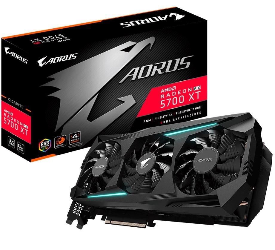 Gigabyte Aorus Radeon RX 5700 XT 8GB GDDR6 PCIe Graphic Card 8K 7680x4320@60Hz 6xDisplays 3xDP 3xHDMI 2010/1770MHz FreeSync RGB2.0