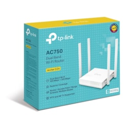 TP-Link Archer C24 Ac750 Dual-Band Wi-Fi Router 2.4GHz 300Mbps 5GHz 433Mbps 4xLAN 1xWAN 4xAntennas, WPS, Router Access Point And Range Extender Modes