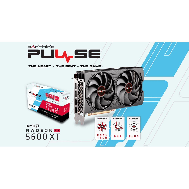 Sapphire Amd Radeon RX 5600 XT Be 6G Black Edition GDDR6 TriXX 1620 MHz Boost Dp/Hdmi Pcie 4.0
