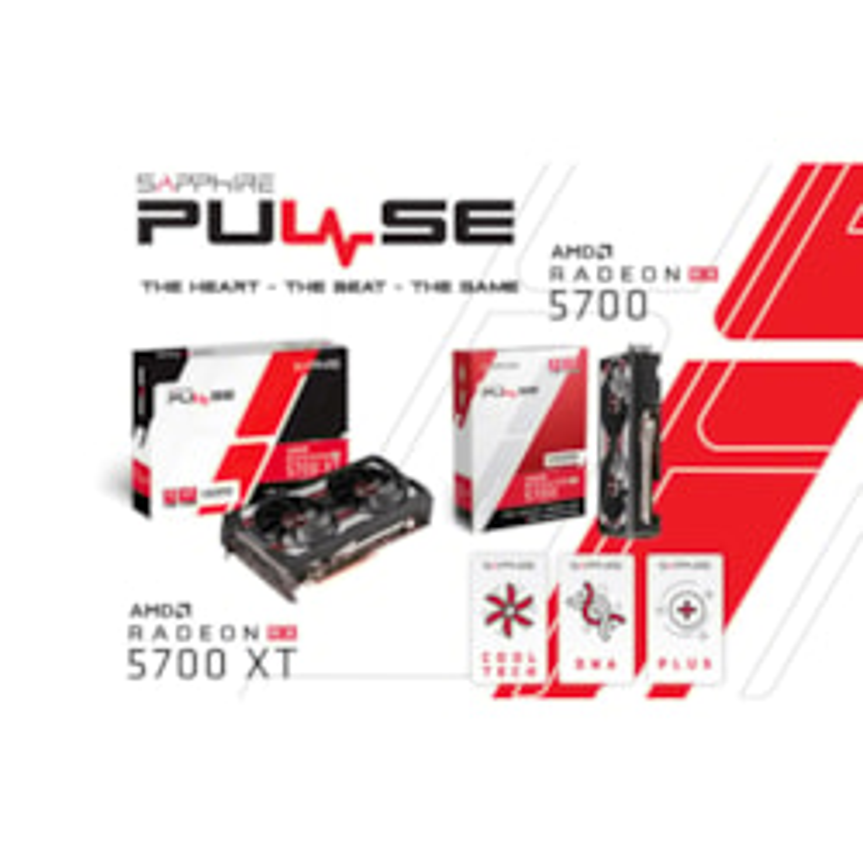 Sapphire Amd Radeon Pulse RX 5700 XT Be 8G Black Edition GDDR6 TriXX 1925 MHz Boost Dp/Hdmi Pcie 4.0