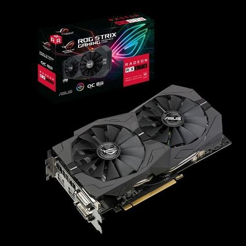 Asus Amd Rog-Strix-Rx570-O8g-Gaming Rog Strix Radeon RX570 Oc Edition 8GB GDDR5, 2 Fans, 1310 Boost