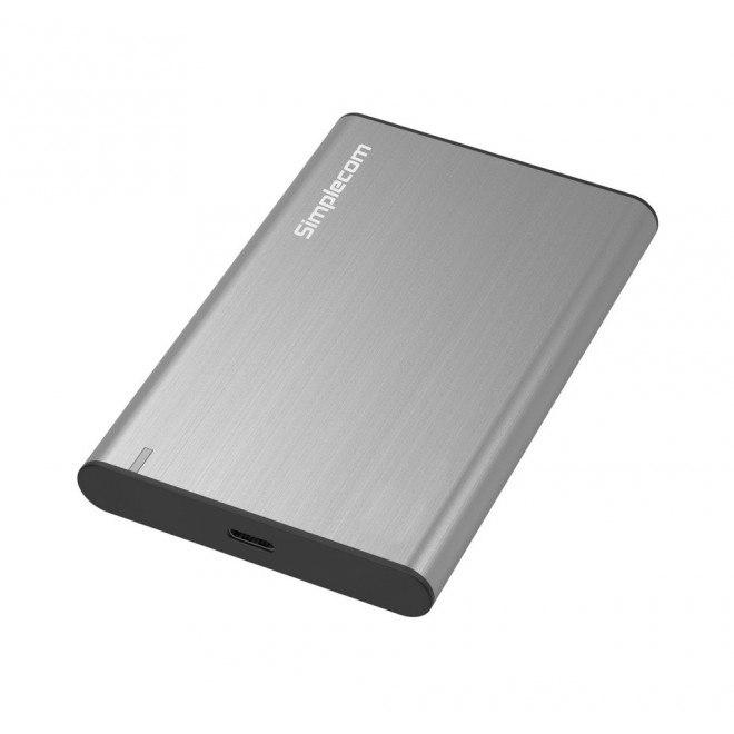 Simplecom Se221 Aluminium 2.5'' Sata HDD/SSD To Usb 3.1 Enclosure Silver