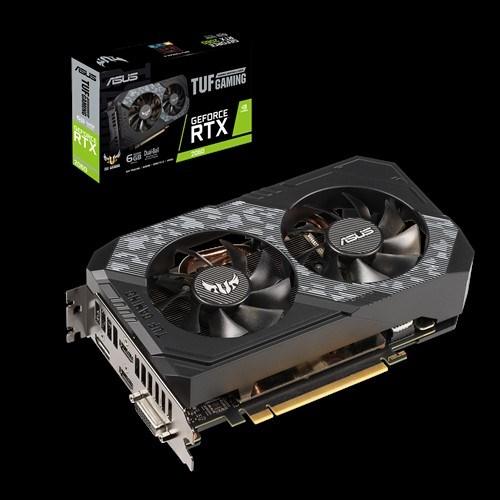Asus nVidia Tuf-Rtx2060-6G-Gaming RTX 2060 6GB GDDR6 Turing 2 Fans, 1710 MHz Boost 1xDP/2xHDMI/1xDVI-D