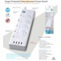 Generic Sansai 8 Outlets & 4 Usb Outlets Surge Protected Powerboard (Pad-4088H)