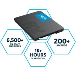 Micron Crucial BX500 480GB 2.5' Sata3 6Gb/s SSD - 3D Nand 540/500MB/s 7MM 1.5 Mil MTBF 3YR WTY Acronis True Image Solid State Drive