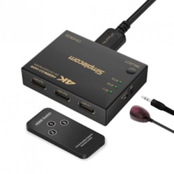 Simplecom CM303 Ultra HD 3 Way Hdmi Switch 3 In 1 Out Splitter 4K@60Hz