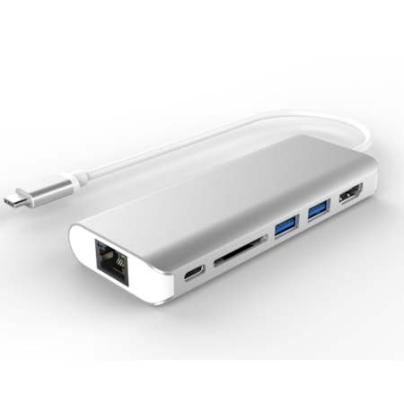 Astrotek All-in-One Dock Thunderbolt Usb-C 3.1 Type-C To HDMI+USB3.0+Card Reader+RJ45 Gigabit LAN+TypeC PD Function For Macbook Pro
