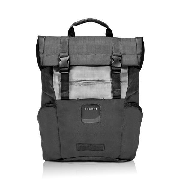 Everki Black Roll Top Backpack