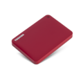 Toshiba Canvio Connect II 2 TB Hard Drive - External - Portable - Red
