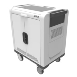 Laser Charging Cart In 32 Bays Usb Port With SYNC And Charge