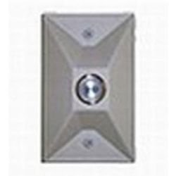 CyberData Remote Push-To-Talk Button - Signal White. For Use With Cyberdata Talk-Back Speakers