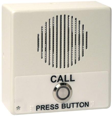 CyberData Single Button Ip Intercom/Access Controller Indoor Case, PoE, Signal White Housing