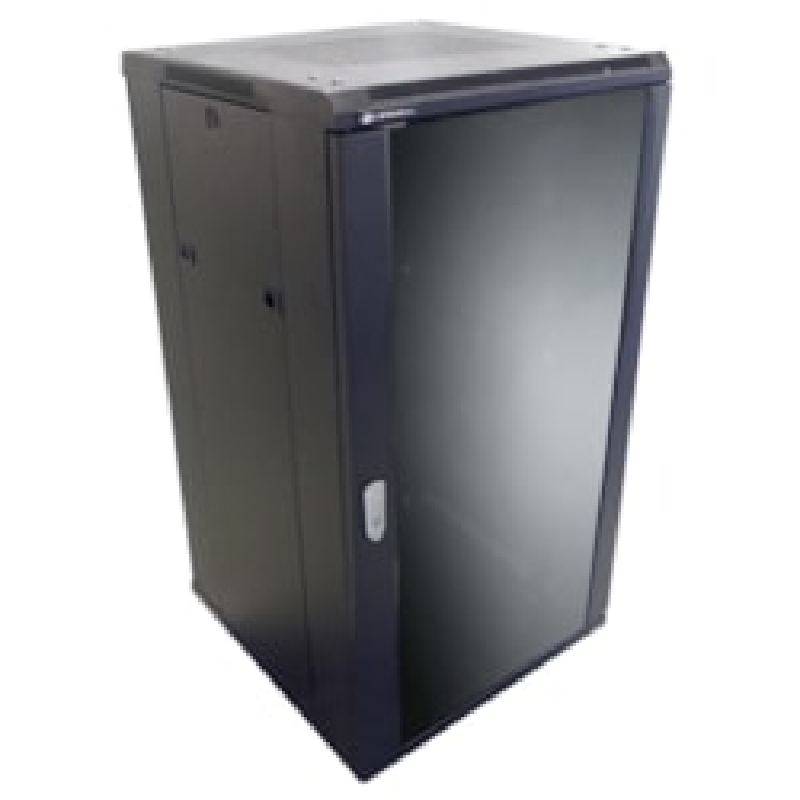 LinkBasic 18Ru 600MM Depth Server Rack Smoke Glass Door With 2X240V Fans And 8-Port 10A Pdu
