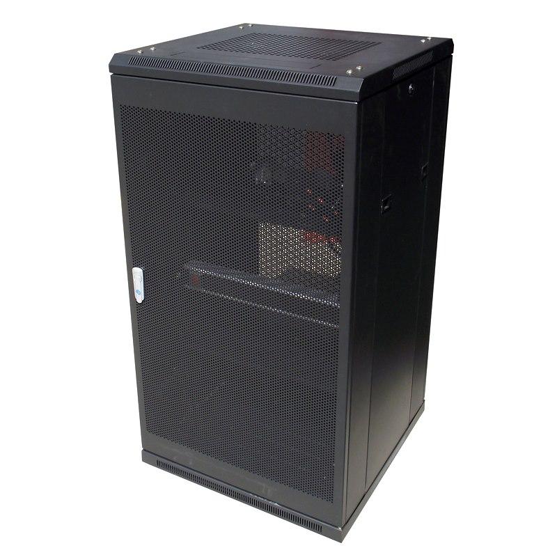 LinkBasic 22Ru 600MM Depth Server Rack Mesh Door With 2X240V Fans And 8-Port 10A Pdu
