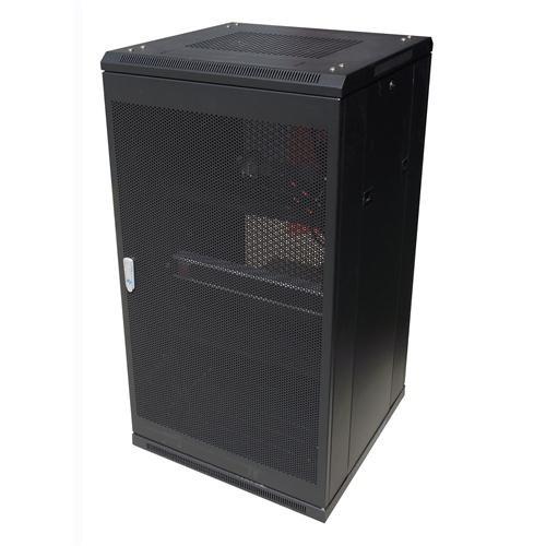 LinkBasic 22Ru 800MM Depth Server Rack Mesh Door With 4X240V Fans And 8-Port 10A Pdu