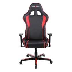DXRacer FL08 (NR) Series Gaming Chair, Sparco Style, Neck/Lumbar Support - Black & Red