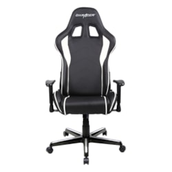 DXRacer F Series Gaming Chair, Sparco Style, Neck/Lumbar Support - Black & White