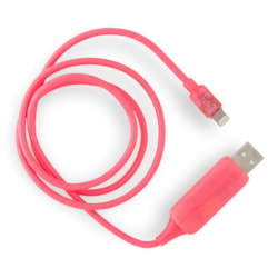 Generic Visible Flowing Usb Lightning Charging Cable - Pink