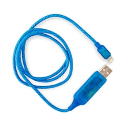 Generic Visible Flowing Usb Lightning Charging Cable - Blue