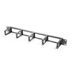 Serveredge 1Ru Horizontal 5 Rings Cable Management Rail - Metal Body Plastic Fingers & Rear Cable Entry Holes