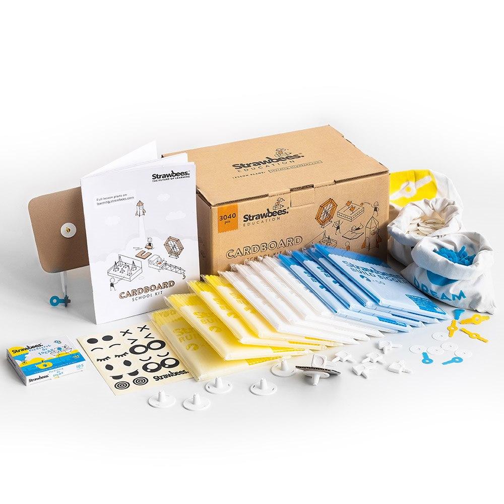 "Strawbees ""Strawbees Cardboard School Kit"""
