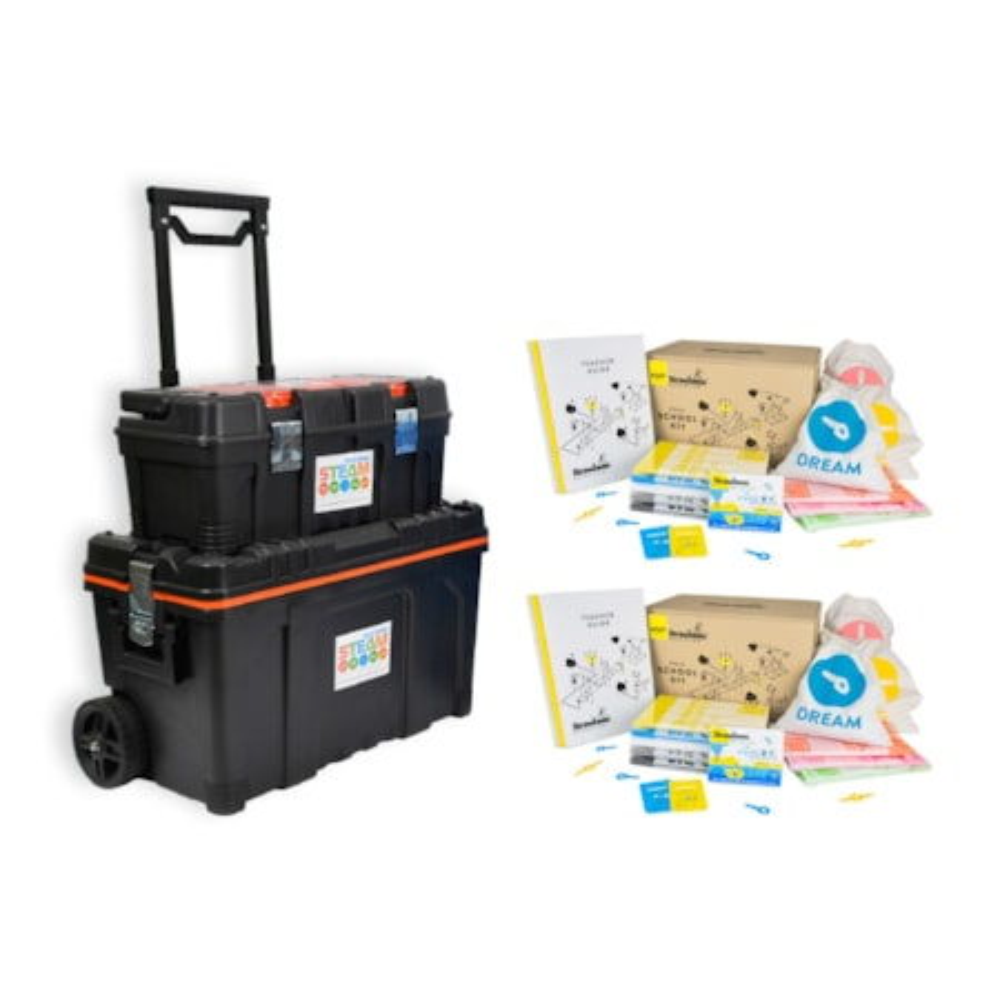 "Strawbees ""2 X Strawbees Steam School Kit With Free Storage Kit"""