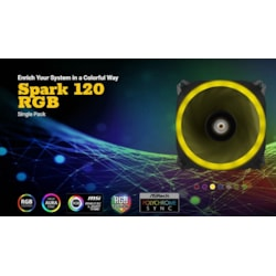 Antec Spark 120 RGB Dual-Ring Design, Hydraulic Bearing, Led PWM Fan. 2 Years Warranty