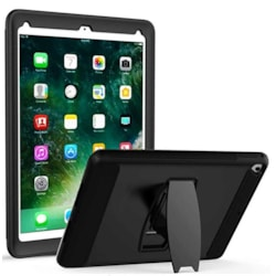 Vnet- Case for iPad 9.7 Inch 2018/2017 6th/5th Generation - Full-Body Rugged Protective Case with Built in Screen Protector, Multi-Viewing Angles,Heavy Duty Kickstand for iPad 9.7 2018/2017, Black