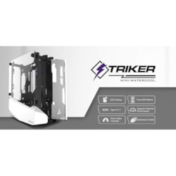 Antec Striker Open Frame Mini-ITX Aluminium And Steel Case, Pci-E Riser Cable Included.