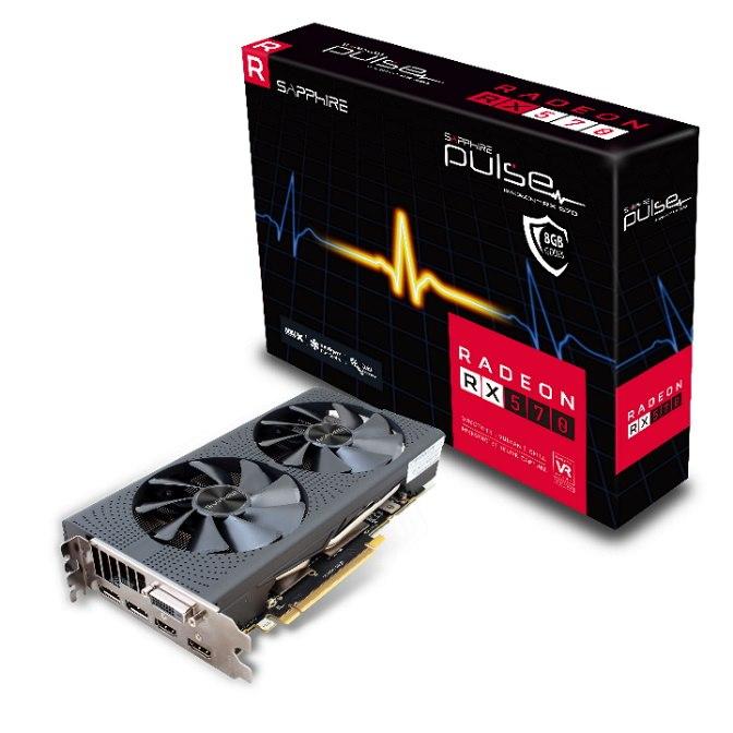 Sapphire Pulse Amd Radeon RX 570 8GBM 2X Hdmi 2X DP
