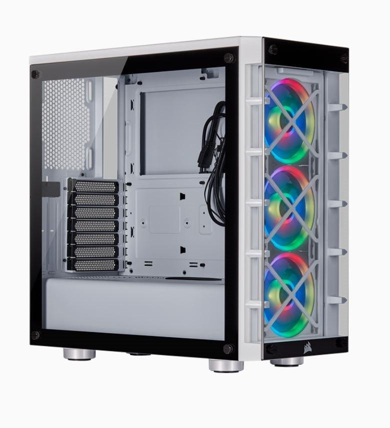 Corsair Icue 465X RGB White (LL120 RGB Fan) Mid-Tower Atx Smart Case V2