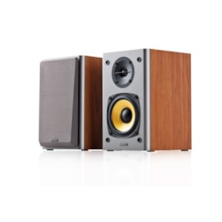 Edifier R1000T4 Ultra-Stylish Active Bookself Speaker - Uncompromising Sound Quality For Home Entertainment Theatre - 4Inch Bass Driver Speakers Brown