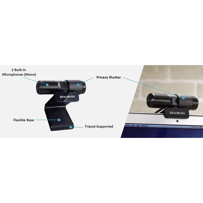 AVerMedia Cam 313 Liver Streamer, 1080P @ 30FPS, 2 Built In Microphoes, RECentral 4. 1/2.7' Cmos Sensor