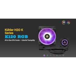 Antec Kuhler K120 RGB All In One Cpu Liquid Cooler, Lga 2066, 2011, AMx, FMx. 3 YR Warranty