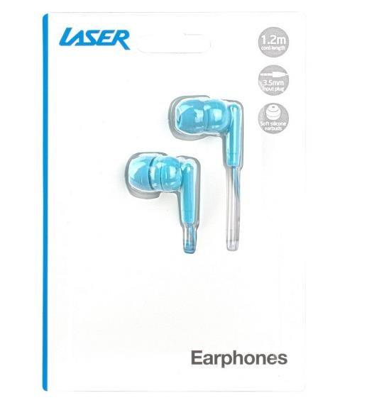 Laser Earbud Earphone Icy Green