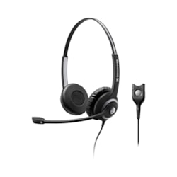 Sennheiser SC 260 Wide Band Binaural Headset With Noise Cancelling Mic - High Impedance For Standard Phones, Easy Disconnect