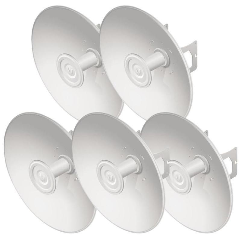 Ubiquiti *New* PrismStation / IsoStation / Ltu Compatible 27 dBi Hi-Gain Reflector Dish With Mounting Kit - 5 Pack