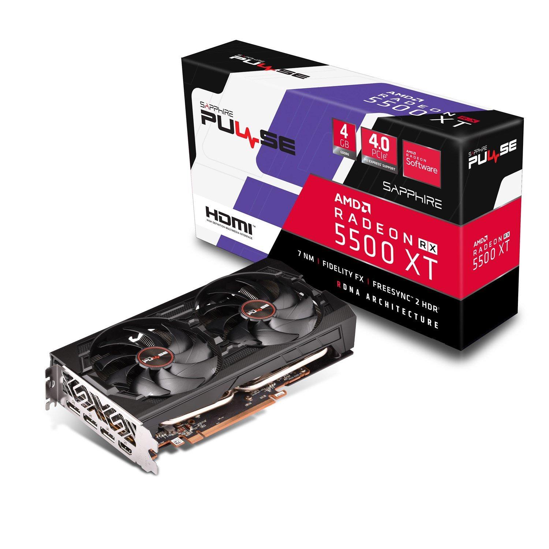 Sapphire Pulse Radeon RX 5500 XT 4G GDDR6 Hdmi / Triple DP Oc W/BP (Uefi) Lite
