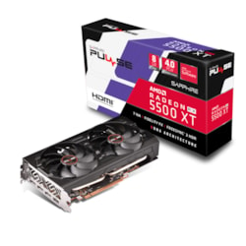 Sapphire Pulse Radeon RX 5500 XT 8G GDDR6 Hdmi / Triple DP Oc W/BP (Uefi) Lite