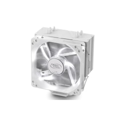 Deepcool Gammaxx 400 White Cpu Cooler 4 Heatpipes, 120MM PWM Led Fan Intel Lga20xx/1366/115X/775 Amd Am4 FM2 FM1 Am3+ Am3 Am2+ Am2 K8