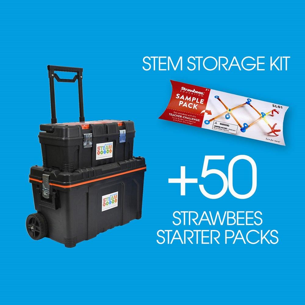 Strawbees 50 X Strawbees Teacher School Kits With Free Storage Kit